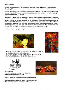 Ricardo A Dominguez Photo Exhibit At The Funky Monkey Cafe And Gallery